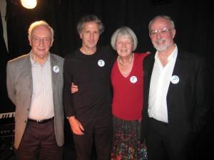 David Boll (Magma Chairman), Blake Morrison, Vicki Feaver and Laurie Smith (Editor, Magma 42)